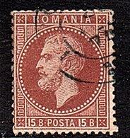 1872 15 Bani, Mi 40 Very Fine Used (299) - 1858-1880 Moldavia & Principality