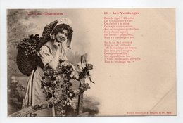 - CPA BERGERET (illustrateurs) - Vieilles Chansons - Les Vendanges - Edition Bergeret N° 16 - - Bergeret