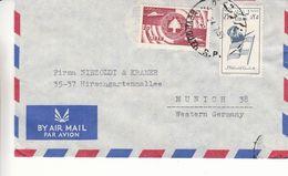 Liban - Lettre De 1959 - Oblit Beyrouth - Drapeaux - - Liban
