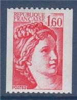 = Type Sabine De Gandon  1.60f  Rouge  Roulette, Timbre Neuf N°2158 - Rollo De Sellos