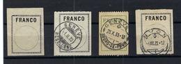 SUISSE:  Lot D'étiquettes ''FRANCO'' - Portofreiheit
