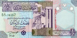 LIBYA 1/2 DINAR 2002 P-63  UNC - Liberia