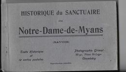 """73 - MYANS - Carnet De 12 Cartes Postales """"Historique Du Sanctuaire De Notre Dame De Myans"""" - France"""