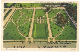 View Of Grounds From Front Of Capitol - Baton Rouge /P29/ - Baton Rouge