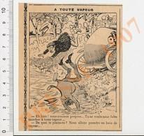 Presse 1907 Humour Vieux Tacots Accident Voiture Auto à Toute Vapeur Bain De Vapeur 229H - Unclassified