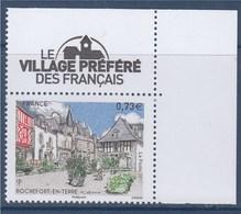 = Rochefort En Terre Morbihan Le Village Préféré Des Français 0€73 Coin De Feuille Neuf N°5155 Logo Sur Bord De Feuille - France