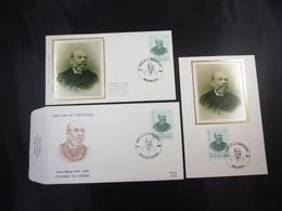 "BELG.1987 2248 FDC Zijde/soie & FDC Mcard Zijde/soie & FDC : ""Dag Van De Postzegel/ Journée Du Timbre"" - FDC"