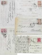 5 EP. Cartes Réponse Avec Oblitérations étrangères De ROMA-ERFURT-PARIS-HILDESHEIM-TROYES - Postcards [1871-09]