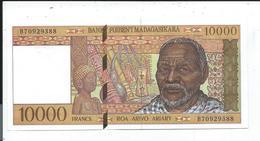 Madagascar Billet De 10000 Francs Banky Foiben'i Madagasikara - Madagascar