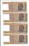 Madagascar Serie 4 Billets N° Se Suivant Billets De 10000 Francs Banky Foiben'i Madagasikara - Madagascar