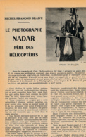 """1955 : Document, NADAR, PERE DES HELICOPTERES, Chute Du Ballon """"Le Géant"""", Nieubourg, Hanovre, Ponton D'Amécourt - Vieux Papiers"""