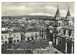 4973 - ACIREALE STAZIONE DI CURA PIAZZA DUOMO ANIMATA 1950 CIRCA - Acireale