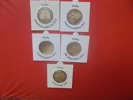 MALTE 2 EURO 2012+2013+2014+2014+2015 COMMEMORATIVES QUALITE UNC - Malte