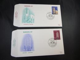 "BELG.1987 2251 & 2252  FDC's  (Diksmuide : "" Europa 87 "" - FDC"
