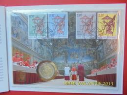 "VATICAN 2 EURO 2013 ""SEDE VACANTE"" FDC AVEC PHILATELIE - Vatican"