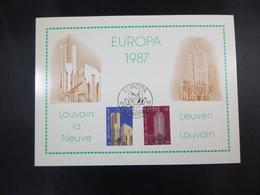 "BELG.1987 2251 & 2252  FDC Philacard  (Diksmuide) : "" Europa 87 "" - FDC"