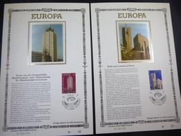 "BELG.1987 2251 & 2252  FDC Philacards Zijde NL Lim.Edit.  (Bruxs) : "" Europa 87 "" - FDC"