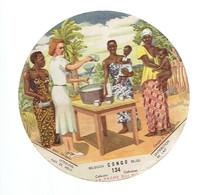 *LA VACHE QUI RIT - CONGO BELGE* 134 *  Distribution De Lait - Chromos