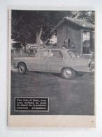 Peugeot 404 (LIDO Di Ostia Via Ostierse) - Coupure De Presse De 1960 - Voitures