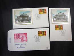 """BELG.1987 2253 FDC Zijde/soie & Mcard Zijde/soie & FDC (Hasselt)  : """" Opéra Royal De Wallonie """" - 1981-90"""