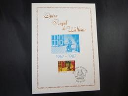 "BELG.1987 2253 FDC Philacard (Hasselt)  : "" Opéra Royal De Wallonie "" - FDC"