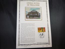 """BELG.1987 2253 FDC Philacard Zijde Ed.Lim. NL. (Lier)  : """" Opéra Royal De Wallonie """" - FDC"""