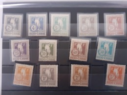 Indochine Timbres Taxes Série 5 A 17 Avec Charniéres* - Indochina (1889-1945)