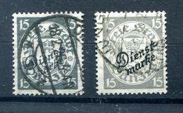 Danzig Dienst 43a+b Beide Farben Gest. (77313 - Danzig