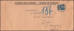 Völkerbund (SDN) 19x Tell Mit Armbrust EF Auf Brief GENF 11.9.1928 Nach Venedig - Service