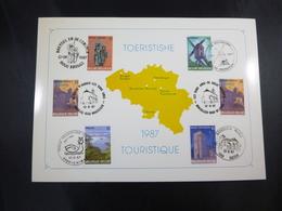 "BELG.1987 2254/2258 FDC Filatelic Card : "" TOERISTISCHE 1987 "" - FDC"