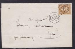 France, Rhone - Yvert N° 13A,  Pc 1818 Sur LAC De Lyon De 1860 - Tarif Local - 1849-1876: Période Classique