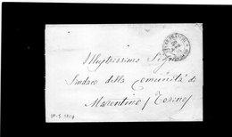 CG28 - Lett. Da Torino X Marentino 20/7/1854 - Ann. Doppio Cerchio Sardo Rosso Per Stampati Franchi - 1. ...-1850 Prefilatelia