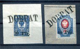 Ober-Ost DORPAT 1+2 Herrlich Auf Gest. Luxusbriefstück 400EUR (H2606 - Besetzungen 1914-18