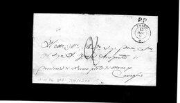 CG28 - Lett. Da Trino X Cavaglio 13/12/1854 - Doppio Cerchio Sardo Nero + P.P. + Segni Di Tassa - 1. ...-1850 Prefilatelia