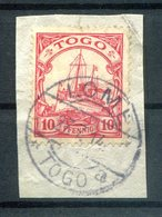 Togo 22 Herrlich Auf Gest. Luxusbriefstück 140EUR (H4792 - Colony: Togo