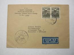 1950 , Luftpostbrief Aus Ankara - 1921-... République