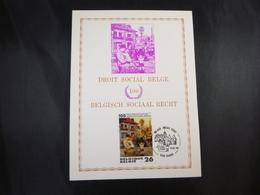 "BELG.1987 2263 FDC Filatelic Card (Brugge) :"" Belgisch Sociaal Recht **100**droit Social Belge"" - FDC"