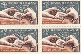 France Oblitéré  1966  Bloc De 4 Valeurs Du N° 1477   Journée Du Timbre. Gravure D'un Poinçon - Oblitérés