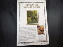 """BELG.1987 2263 FDC Filatelic Card  Zijde , Lim.Ed. NL. : """" BELGISCH SOCIAAL RECHT """" - FDC"""