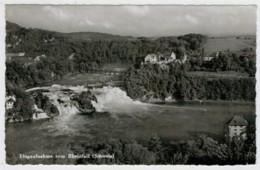 C.P.  PICCOLA    FLUGAUFNAHME   VOM  RHEINFALL          2 SCAN    (VIAGGIATA) - SH Schaffhouse