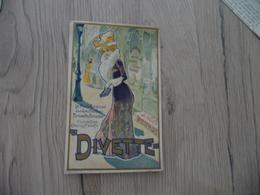 Chromo  Pub Publicitaire Biscuit Pernot Divette Gaufrettes Femme Arts Nouveaux - Pernot