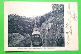 Cartolina - Montecatini ( Alto ) - Valdinievole - La Funicolare - 1905 - Pistoia