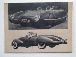 Automobile Allemande - Prototype Aérocoupé à Idendifier - Coupure De Presse Nde 1950 - Voitures