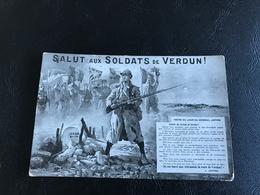 SALUT Aux SOLDATS De VERDUN ! Ordre Du Jour Du General Joffre - 1916 Timbrée - Patriotiques