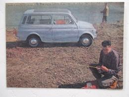 Voiture Nouvelle Fiat 500 Break Environs Mont Saint Michel (Manche) - Coupure De Presse De 1960 - Voitures