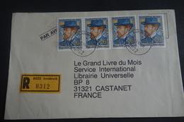 Lettre En Recommandée INNSBRUCK Affranchissement Philatélique TB - Machine Stamps (ATM)