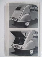 Voiture Citroen 2 CV Avec Nouvelle Version Coffre à Bagages - Coupure De Presse De 1958 - Voitures