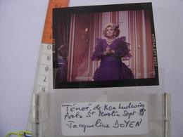 Film Positif Photo Diapositive Slide JACQUELINE DOYEN 1988 Porte Saint Martin - Personalidades Famosas