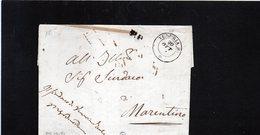 CG28 - Busta Da Venaria X Marentino 20/10/1851 - Doppio Cerchio Sardo Nero + P.P. - 1. ...-1850 Prefilatelia