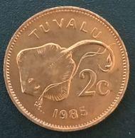 RARE - TUVALU - 2 CENTS 1985 - Elizabeth II - 2eme Effigie - KM 2 - Tuvalu